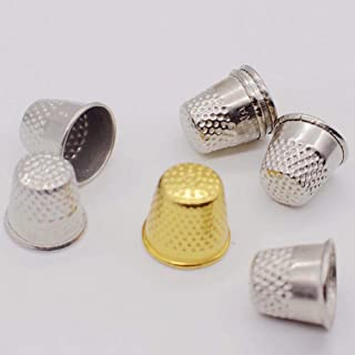 COODIO Silver Color Cap Shape Sewing Thimble Finger Protector for Needlework
