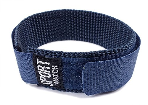 Minott Ersatzband Uhrenarmband Sport-Watch Durchzugsband Band Blau 18-20mm