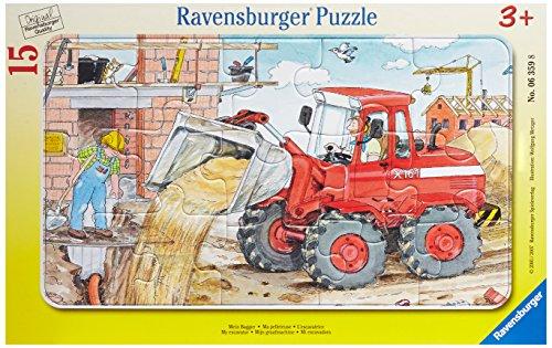 Ravensburger Kinderpuzzle 06359 - Mein Bagger - Rahmenpuzzle