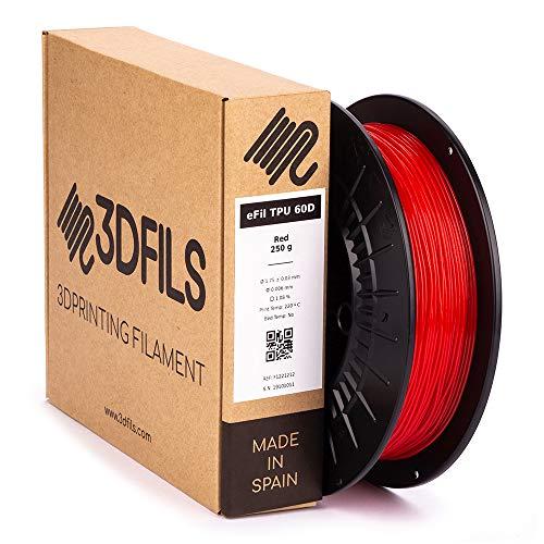 3DFILS - Filamento flexible para impresión 3D eFil TPU 60D: