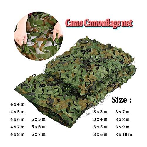 Chasse Camouflage Net extérieur aveugle mirador étanche Rot-Résistance 4x4m / 13x13ft, Mold-Résistants à la Guerre Convient jeu Sports Camping (Color : -, Size : 4x6m/13x19ft)