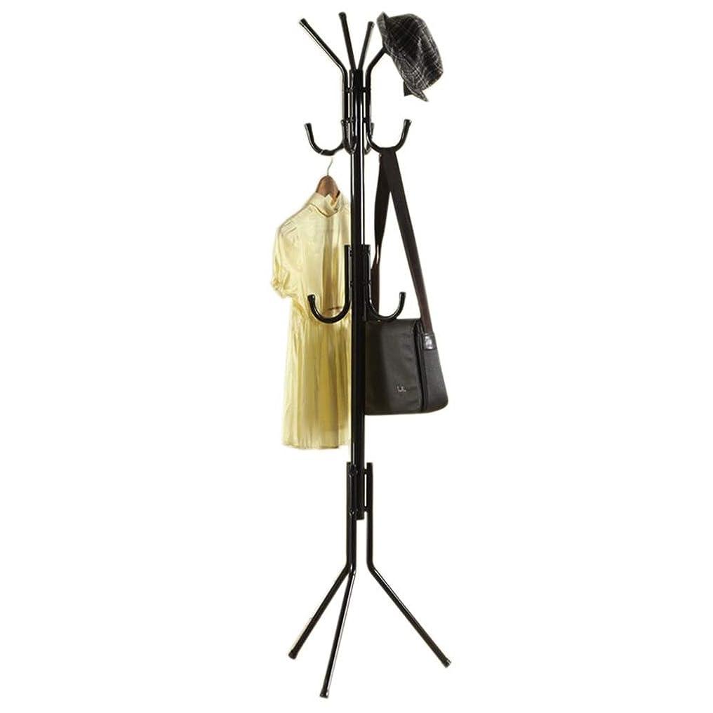 噴水フルーティーひばり3層11フックガレージロビーオフィスクローゼット、黒/白のための自由で永続的なコートそして帽子の棚 ホームベッドルーム (色 : ブラック, サイズ : ワンサイズ)
