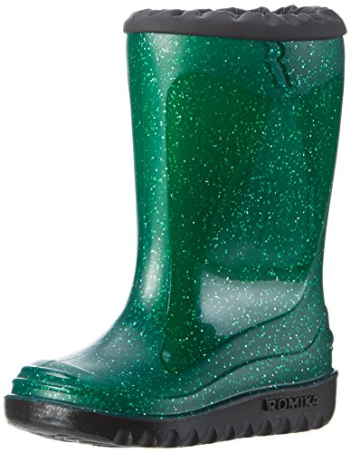 Romika Unisex-Kinder Glitzy Gummistiefel, grün, 26 EU