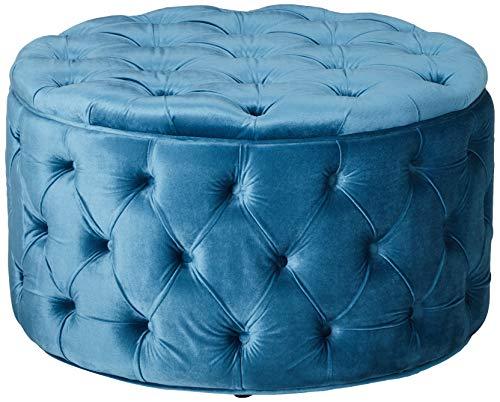 Christopher Knight Home Zelfa Velvet Ottoman, Baby Blue