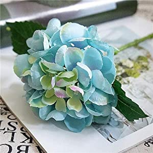 Artificial and Dried Flower Artificial Flowers Hydrangea Silk Mini Sweet Pea Flower Dekor Plant Bouquet Fake Flowers Garden Decor for Home Crafting