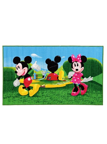 ABC Tappeti Disney Alfombra Mickey Mouse Clubhouse Verde/Azul 100 x 170 cm