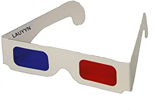 LAUYYN- Red Blue Cardboard - Cosplay - Each Folded in Reusable Clear Sleeve - Doctor WHO 10th Doctor 3D Glasses