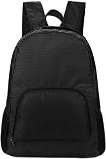 smallwoodi Folding Oxford Fabric Pouch Tote Shoulder Bag Travel Casual Backpack