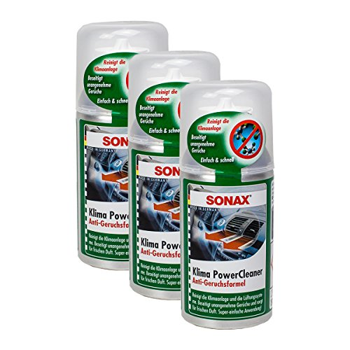 SONAX 3X 03231000 KlimaPowerCleaner Klimaanlage Reiniger Antibakteriell 100ml