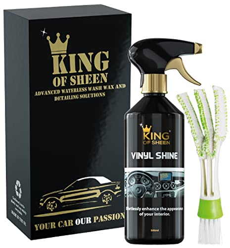 King of Sheen Vinyl Shine Car Dashboard Cleaner and Car interior Cleaner + Handy Vent Duster Brush,...