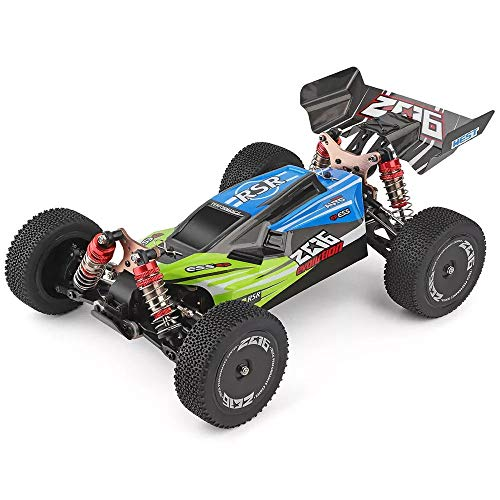 MeterMall Toys Cars for Wltoys 144001 1/14 2.4G 4WD High Speed Racing RC Car Vehicle Models 60km/h (Custom Package) No Color Box Green with one Battery