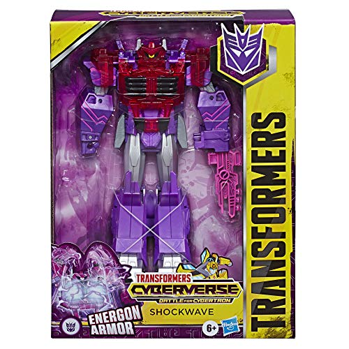 TRANSFORMERS Toys Cyberverse Ultimate Class Shockwave Action Figure - Combines with Energon Armour to Power Up - For Kids Ages 6 and Up, 9-inch