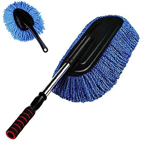 Lavage de voiture fournitures brosse de cire de voiture brosse de nettoyage poussière de cire remorquage rétractable 2 ensembles de costume de taille bleue amovible