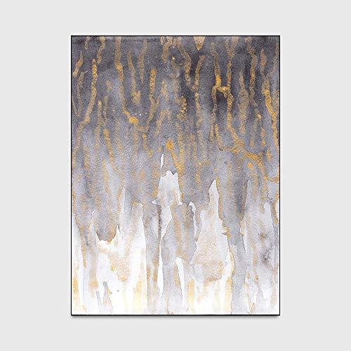 Moderner Stil Teppiche Wohnaccessoires in Einfache Abstrakte Höhle Tinte Gelb Grau Küche Wohnzimmer Schlafzimmer Nacht Teppich Matte (100 * 160 cm),150 * 200cm