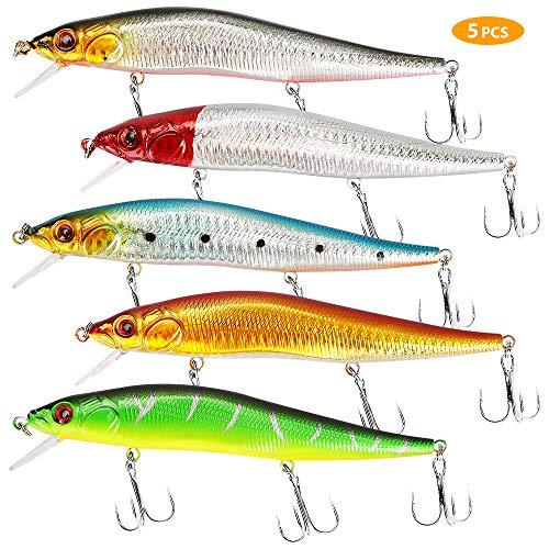 yidenguk 5 Piezas de señuelos de Pesca Conjunto, Pesca de