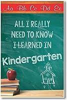 すべてのI Really Need to Know Iから学習幼稚園–新しい教室Motivational Poster