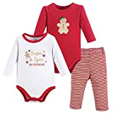 Hudson Baby Baby Bodysuit and Pant Set, Sugar & Spice, 0-3 Months (3M)