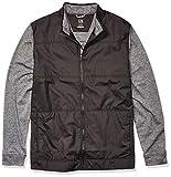 Cutter & Buck Men's Moisture Wicking Drytec Heathered Stealth Full Zip Jacket, Black, 1X Big from Cutter & Buck