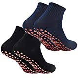 Calcetines Deporte 2 Pares Calcetines Antideslizantes para Hombre Mujer...