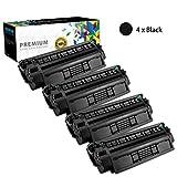 KSSUN Reemplazo de Cartucho de tóner Compatible para HP 24A (24X) / Q2624A (Q2624X), para impresoras HP Laserjet 1150 1150N Reemplace de Alto rendimiento-4-set