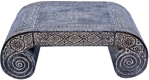Guru-Shop Tables à Opium Décorées, Table Basse, Table D`appoint, Table Basse Style Timor-Oriental - Modèle 2, Marron, 45x115x58 cm, Tables Basses Tables de sol