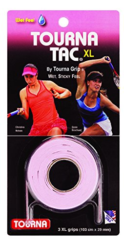 Unique Sports Tourna TAC Tennis Racquet Over Grip-3 XL Pink Overgrips-Absorbent Tacky Feel