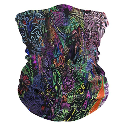 Trippy Wallpapers Half Face Mask Scarf Cover Dust Wind Neck Gaiter Bandana Women Men