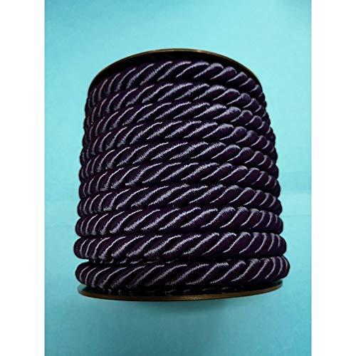 Cordon Trenzado Cuerda Pasamaneria Para Decoracion Costura Creativa Bricolaje Artisanat Diametro Mm.10 Paquete Mt.10, AZUL 4707