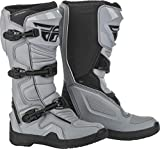 Fly Racing Maverik Boots for Motocross, Off-Road, and ATV Riding (SZ 10,Grey/Black)