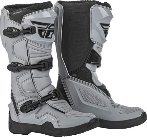 Fly Racing Maverik Boots for Motocross, Off-Road, and ATV Riding (SZ 14,Grey/Black)