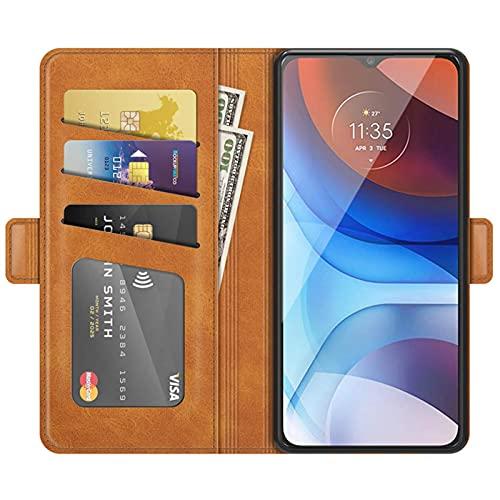 HualuBro Funda OnePlus 9 Pro, Funda Libro de Cuero PU con Ranura para Tarjetas Flip Case Cover Magnético Antigolpes Carcasa para OnePlus 9 Pro Funda (Amarillo)