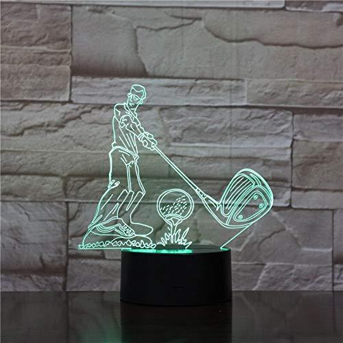 Golf Ball 3D Lamp Touch LED 7 Color Change Sensor Sport 3D Night Light Home Room Decoration Desk lamp Best Child Gift1612