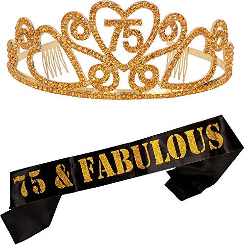 75 and Fabulous Sash and Tiara Set
