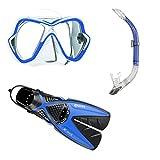 Mares x-ones Splitfin + x-Vision + marinero de buceo Gr, 35-47 azul Talla:L/XL...