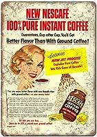 Nescafe Instant Coffee ティンサイン ポスター ン サイン プレート ブリキ看板 ホーム バーために