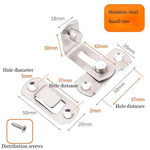 El cerrojo de la puerta 90 Perno Cerradura de la puerta Granero /Ángulo recto Doblado Cierre Pestillo Puertas de inodoro y ventanas