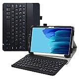 Samsung Galaxy Tab A7 Teclado Funda,LiuShan Detachable Wireless Teclado PU Cuero con Soporte Caso para 10.4' Samsung Galaxy Tab A7 10.4 (2020) T500 T505 Tablet,Negro