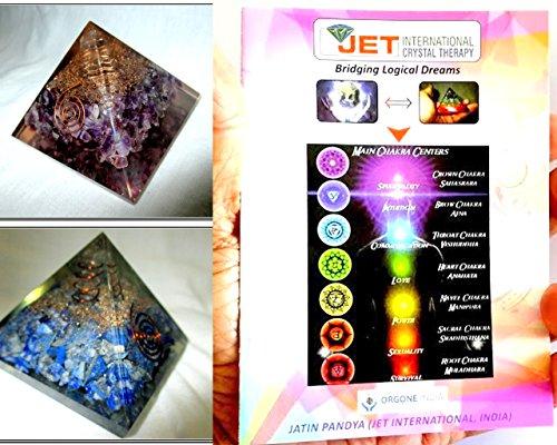 Jet International Squisito Due (2) Ametista e lapislazzuli Chakra Orgone Piramide 1 Ogni migliore offerta Libretto gratuito Terapia del cristallo Pietre preziose di cristallo Rame Metallo