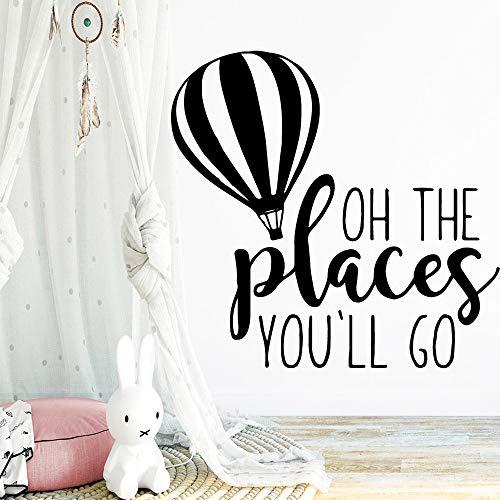 Die Orte, an die Sie gehen werden Wandaufkleber Hausdekoration Zubehör für Wohnzimmer Kinderzimmer Wandbilder Wallpaer Pink XL 57cm X 59cm