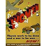 Wee Blue Coo War WWII Women Work Industry Military Land Girl USA Unframed Wall Art Print Poster Home Decor Premium