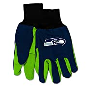 "60% Cotton, 40% Polyester Wincraft 100% Officially Licensed Product by the NFL Features Rib-Knit Wrist Cuffs Rubber Dot Palm for Sure Grip Measures Approximately 10"" x 5"" - Adult - One Size Fits Most"
