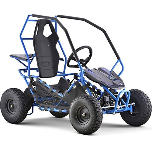 MotoTec Maverick Kids Electric Go Kart 36v 500w Blue