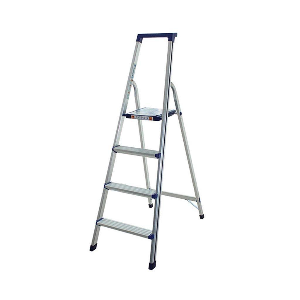 Multifuncional Escalera de herramientas, escaleras de tijera plegable conveniente de aleación de aluminio de cuatro Escalera plegable - Top Pedal Ampliación de Diseño - Nivel de carga: 110 Kg estable: Amazon.es: Bricolaje