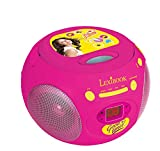 LEXIBOOK- Disney Soy Luna-Reproductor Radio CD, Altavoz Portátil, Rosa RCD102SL FM, AUX IN, Color