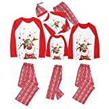 Family Christmas Pjs Matching Sets Baby Christmas Matching Jammies for Adults and Kids Holiday Xmas Sleepwear Set (Style-1, Kid(6-7T))