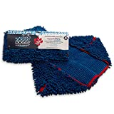 product image of: Soggy Doggy Super Shammy Blue 31 x 14 inch Microfiber Chenille Dog Towel with Hand Pockets