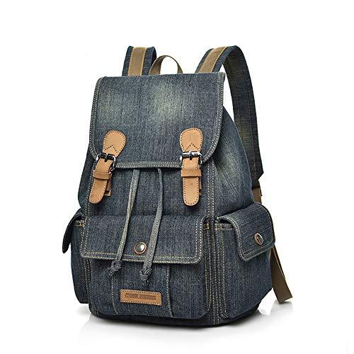 Mochila lona, mochila escolar tela vaquera adolescentes