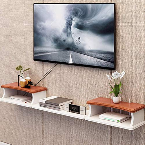 Ccgdgft muur TV kabinet WIFI Router plank set-top box beugel creatieve opslag doos Rack TV Console Float muur Mount plank