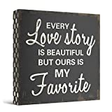 Every Love Story Is Beautiful Wooden Box Wall Art...