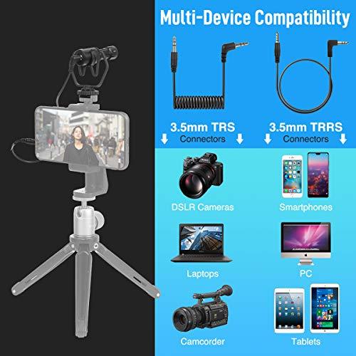 Moman Kamera Mikrofon, Richtmikrofon Shotgun DSLR Externes Microphone Mic Kondensator für Videos mit Windschutz Stoßdämpferhalterung für Canon Sony Nikon Panasonic Camcorder Smartphone PC Laptop MA1